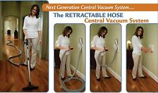 DUCTED VACUUM SYSTEM HIDE-A-HOSE, RETRACTABLE HOSE 18M HOSE WITH SOCK