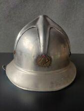 More details for vintage eastern european strojoservis fire fighter helmet
