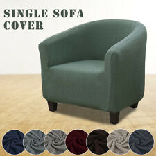 Elastic Polyester Fabric Tub Chair Covers Armchair Sofa Seat Cover Slipcovers