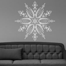Wall Vinyl Room Sticker Decals Mural Snowflake Mandala Flower Om Yoga L135