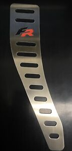 SEAT CUPRA FR FOOTREST STAINLESS STEEL WITH BLACK RUBBER RED OR BLACK NEW