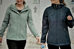Damen Trekkingjacke Regenjacke Wanderjacke Outdoorjacke S M L moosgrün/blau NEU