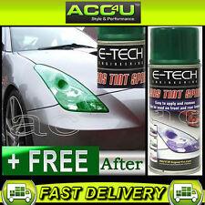 E-Tech Car Glass Plastic Lens Tail Light Lamp GREEN Tint Tinting 150ml Spray Can