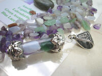 Stress Relief Crystal Chakra Healing Pendant Amulet by Rivers Tumbled Stones