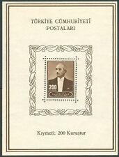 TURKEY #915a Souvenir sheet, og, NH, VF, Scott $70.00