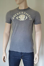 NUOVO Abercrombie & Fitch Palmer Brook GRIGIO distrutto TEE T-SHIRT XL RRP £ 68