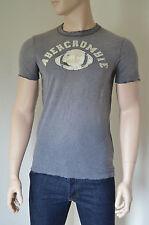 New abercrombie & fitch palmer brook grey détruit tee t-shirt xl rrp £ 68