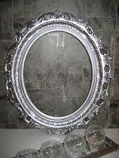 Cadre d'image ovale ancien 58x68 BAROQUE PHOTO ARGENT ART NOUVEAU 3041s