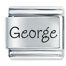 GEORGE Name - Daisy Charm Fits Nomination Classic Size Italian Charms Bracelet