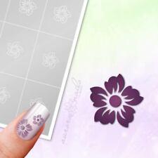 Schablonen für Airbrush und Nailart B062 Blumen Floral Blüte Blätter 96x klebend