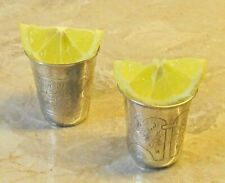 Antique russia * 2 CUP * 19th * for your Bar * Sterling Silver too gift present
