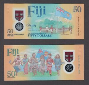 FIJI  P.NEW  50 DOLLARS 2020 50 YRS INDEPENDENCE POLYMER  UNCIRCULATED