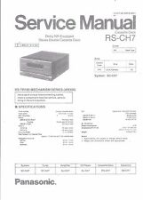Technics Service Manual für RS-CH 7