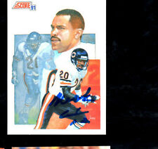 Mark Carrier Chicago Bears hand signed autographed 1991 Score football card