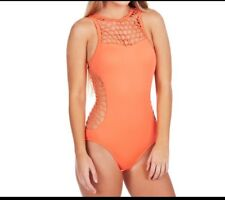 Seafolly Women's Mesh About High Neck Maillot - Nectarine 12
