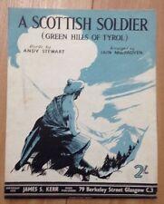 A Scottish Soldier - Andy Stewart - 1960 Sheet Music