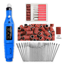 Nail Art Electric File Drill Bits Set Acrylic Gel Remover Pedicure Machine Kit