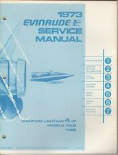 1973 EVINRUDE OUTBOARD  YACHTWIN  LIGHTWIN 4 HP P/N 4902 SERVICE MANUAL (643)