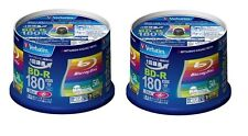100 Verbatim BD-R 6x 4x 25Gb Blank Disc printable Import Japan