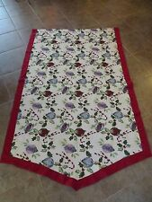 CHRISTMAS HOLIDAY TAPESTRY BANNER HUGE WALL HANGING OR FIREPLACE TOP 96 X 58