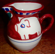 Solimene Vietri Italy Campagna Pig Pottery Creamer Pink SH