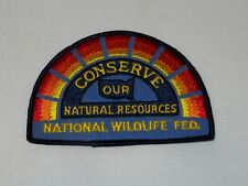 National Wildlife Federation Conserve Our Natural Resources Patch - Nos +