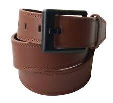 "Leather Metal-free Belt: Non metal: Airport friendly: Nickel free: Brown 30""-34"""