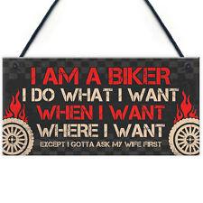 BIKER Gifts For Men Gift For Motorbike Motorcycle Lovers Garage Man Cave Sign