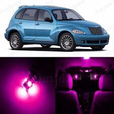 8 x Ultra Pink LED Interior Light Package For Chrysler PT Cruiser 2001 - 2010