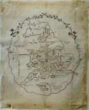 Early 19Th Century Almost Finished Map Of England Sampler - 1809