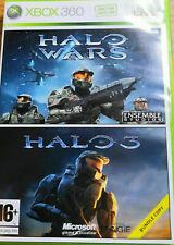 2 Jeux XBOX 360 Halo Wars + Halo 3 sur xbox 360