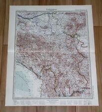 1932 ORIGINAL VINTAGE MAP OF YUGOSLAVIA SERBIA MONTENEGRO KOSOVO MACEDONIA