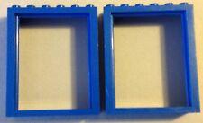 #6235 2x Lego Basic Türrahmen Blau Höhe 6cm wenig bespielter Zustand