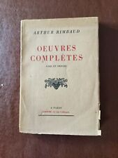Arthur Rimbaud.  Oeuvres Completes.  Vers et proses.