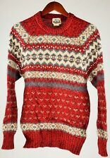 Woolrich Sweater VINTAGE Crew Pullover 85% Wool Mens Size Medium M Red