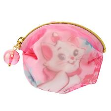 Japan Disney Store Watercolor Coin Wallet Purse - Pink Aristocats Marie Cat (S)