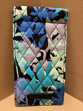 Vera Bradley Blue Floral Double Soft Eye Glass Case Sleeve (Retired) EUC