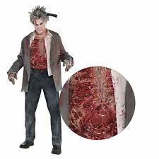 Bloodied 3D Zombie Chest Sublimation Print Top Halloween Costume Gore Horror SFX