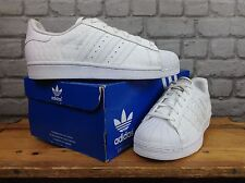 ADIDAS UK 4.5 WHITE PYRAMID SNAKE SUPERSTAR TRAINERS CHILDRENS LADIES RARE
