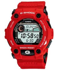 Casio G-Shock Digital Mens Red Moon Tide Graph Watch G-7900A-4 G-7900A-4DR