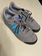 Gray/Blue Adidas Samoa size 7 unisex sneaker