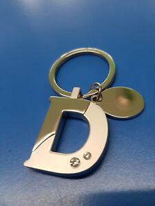 Personalised Initial D Letter Keyring | Engraved Message | Debbie Diane Dion