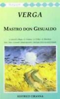 Mastro don Gesualdo, Giovanni Verga, Ciranna editrice codice:9788883220319