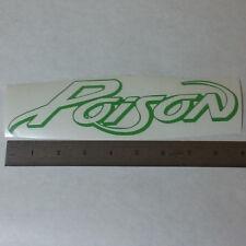 POISON Vinyl DECAL STICKER BLK/WHT/RED Heavy Hair Metal BAND Logo Window Guitar
