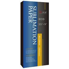 A-SUB 100 Sheets 3.5x9 Mug Size Dye Sublimation Ink Heat Transfer Paper 11oz Cup