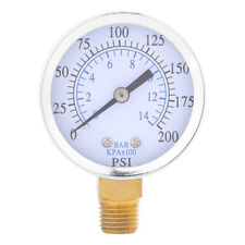 "Air Compressor Pressure Gauge 1/4""NPT 0-200PSI 0-14bar Manometer Side Mount GL"