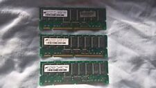 3 x Micron MT18LSDT1672G-133C2 128MB PC133 ECC Reg Server DIMM (MEM008)
