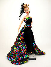 Rainbow Sequins Dress Outfit Gown Silkstone Barbie Fashion Royalty Model Muse FR