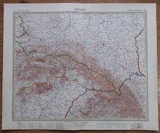 1926 GALIZIEN Galicie Galicia Galizia Kupferstich alte Landkarte Antique Map