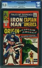 Tales Of Suspense # 63 US Marvel 1965 Origin of Capitaine America CGC 9.0 VFN-Presque comme neuf